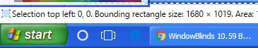 Windows XP Style taskbar screenshot Small Icons